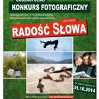 """Ogólnopolski Konkurs Fotograficzny """"Radość Słowa"""""""