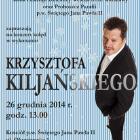 Krzysztof Kiljański zaśpiewa kolędy